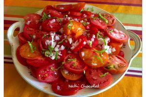 Salade de tomates du jardin