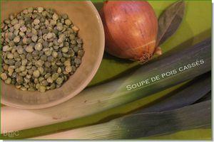 Soupe de pois cassés aux poireaux et carottes
