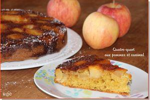 Quatre quart aux pommes caramélisées, recette de Christophe Felder
