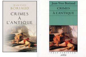 Crimes à l'antique, de Jean-Yves Boriaud