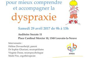 Colloque Apeda - Regard pluridisciplinaire sur la dyspraxie - 29 avril 2017