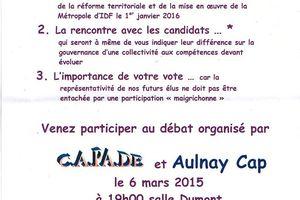 Capade organise un débat sur les prochaines élections...