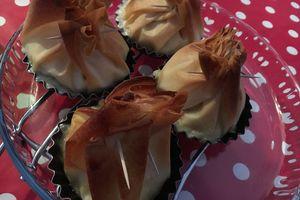 Aumônières poireaux/bacon/reblochon