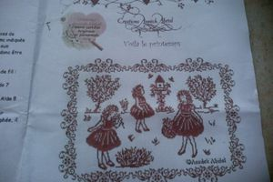 Une broderie d' Annick Abrial