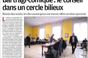 Conseil municipal d'Orange, le bal tragi- comique