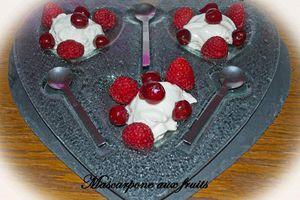 Mascarpone aux fruits