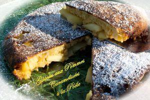 Gâteau aux pommes caramélisées à la poêle