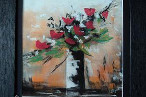 Bouquet de fleurs au pastel