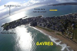 Photos aériennes de La pointe de Gavres et la rade de Lorient