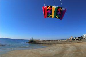 La grande plage des Sables d'Olonne vue par un cerf volant