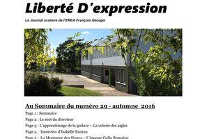 """""""Liberté D'expression"""" n°29 (automne-hiver 2016) est paru !"""