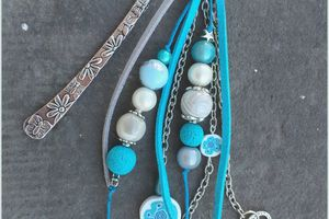Marque-pages tons turquoise