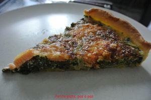Tarte saumon épinards