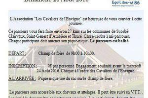 Rando à Scorbé-Clairvaux (86) dimanche 28 août 2016