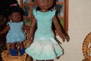 robe volantée pour Cécile Corolle