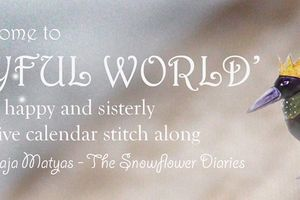 SAL Calendrier 2016 Joyful World  de The Snowflower Diaries