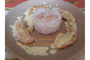 Aiguillettes de poulet au curry et au paprika