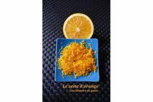 Le zeste d'orange