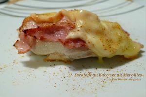 Escalope au bacon et au Maroilles