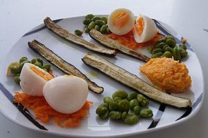 oeuf mollet et courgette