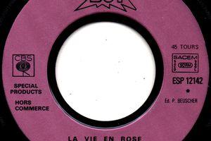 """Disque publicitaire """"BUT""""La vie en rose - 1981"""