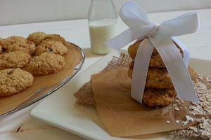 Cookies aux flocons d'avoine et raisins blonds