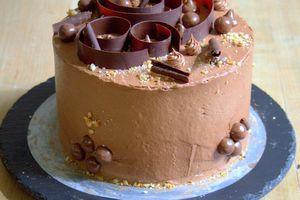 Birthday cake au chocolat et Nutella