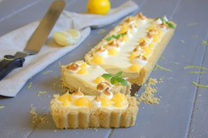 Tarte cheesecake au citron sans cuisson