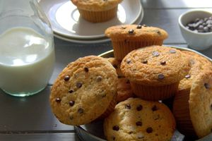 Muffins à la vanille et pépites de chocolat