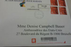 Correspondance de ASMA à l'Ambassadrice des USA
