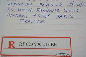 Deuxième correspondance de ASMA au président François Hollande.