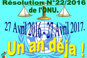 Cameroun:Affaire Marafa  Resolution de L'ONU N°22/2016 du 27 avril 2016. un an déjà.