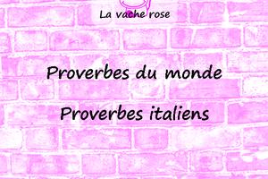 Proverbes italiens