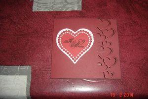 Carte coeurs St Valentin