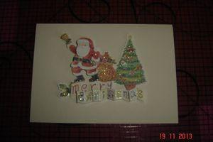 Carte de Noël pour ma nounou quand j'étais petite