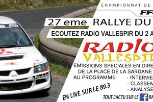écoutez radio Vallespir pour le 27eme rallye national du Vallespir