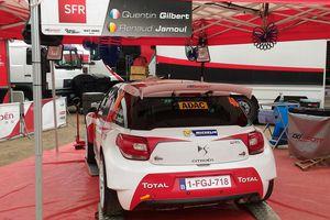 Quentin Gilbert en DS3 R5 avec Easy Rally au rallye Mont-Blanc
