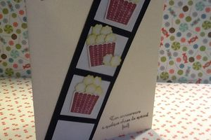 Carte anniversaire pop-corn