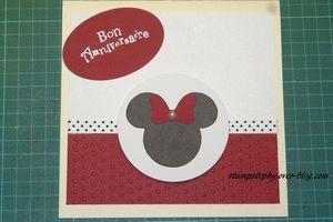 carte d'anniversaire minnie