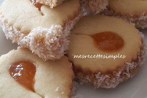 Sablés abricots-noix de coco
