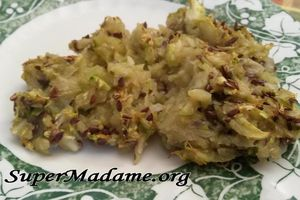 Ultralight de courgettes-endives aux graines de lin