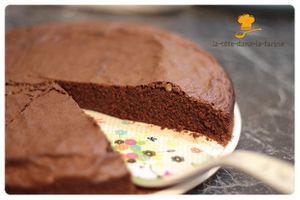 Gâteau au chocolat en poudre (et sans lait)