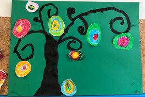 L'arbre de vie (Gustav Klimt & Karla Gerard) : les spirales et les lignes courbes (graphisme)