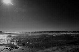Grande plage de Cabourg en Avril
