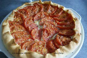 Tarte tomates, ricotta et  basilic