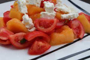 Salade fraîcheur de l'été - melon tomates