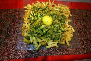 Tagine de poulet aux olives et au citron confit
