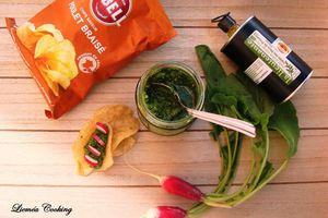Pesto aux fanes de radis et huile d'olive La Lieutenante