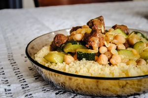 Courgettes au curry et pois chiches