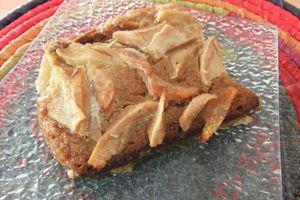 Gâteau poires et pain d'épices